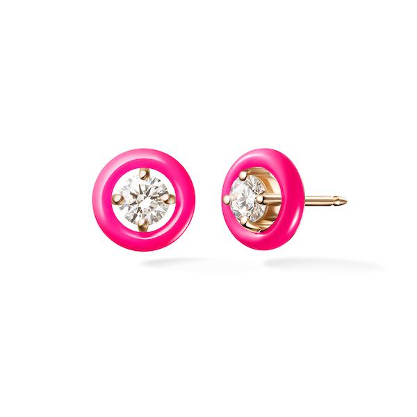 Melissa Kaye neon pink Sylvie stud
