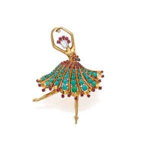 VCA Ballerina brooch