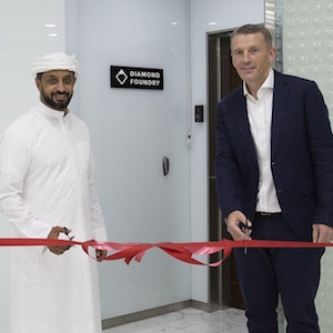 Ahmed Bin Sulayem, EC and CEO, DMCC and Toby Cruse, VP Global Sales, Diamond Foundry