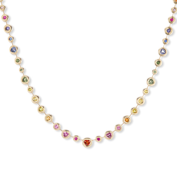 Brent Neale rainbow heart necklace