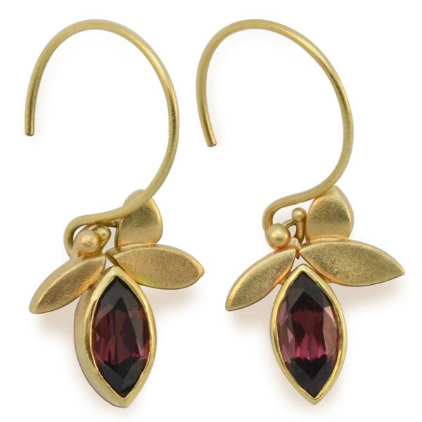 East Fourth Street garnet earrings