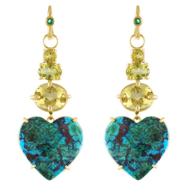 Eden Presley chrysocolla Dream Love earrings