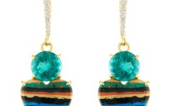 Eden Presley chrysocolla heart earrings