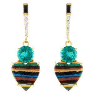 Eden Presley chrysocolla heart earrings