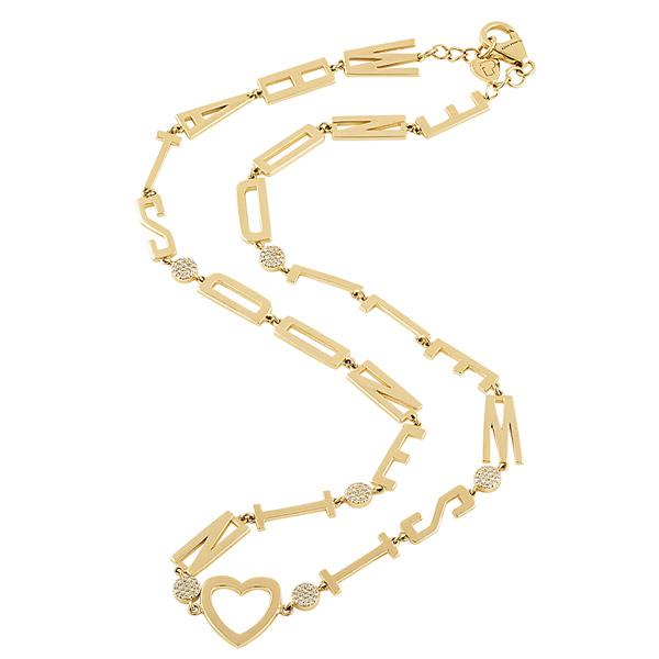 Eden Presley heart mantra necklace