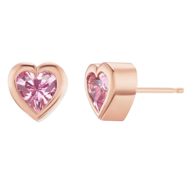 Emily P Wheeler heart stud earrings