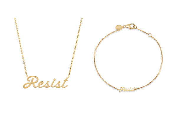 Eriness cursive resist necklace bracelet