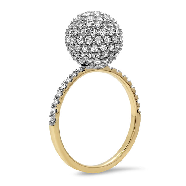 Eriness diamond disco ball ring