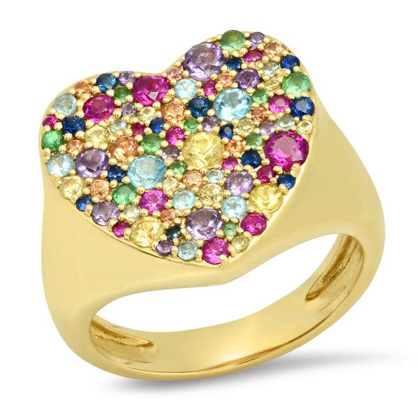Eriness rainbow heart ring