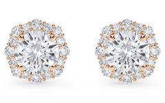 Forevermark floral halo earrings