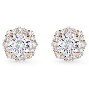 Forevermark floral halo earrings