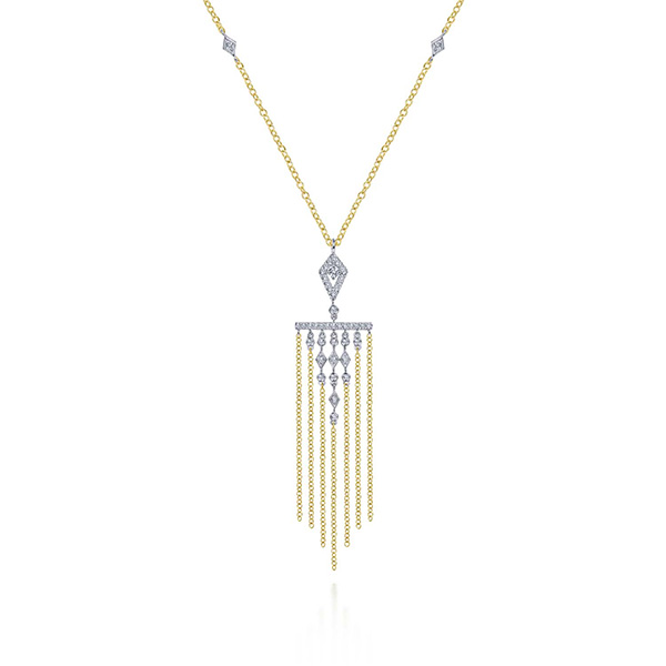 Gabriel and Co fringe necklace
