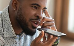 Man talking into phone