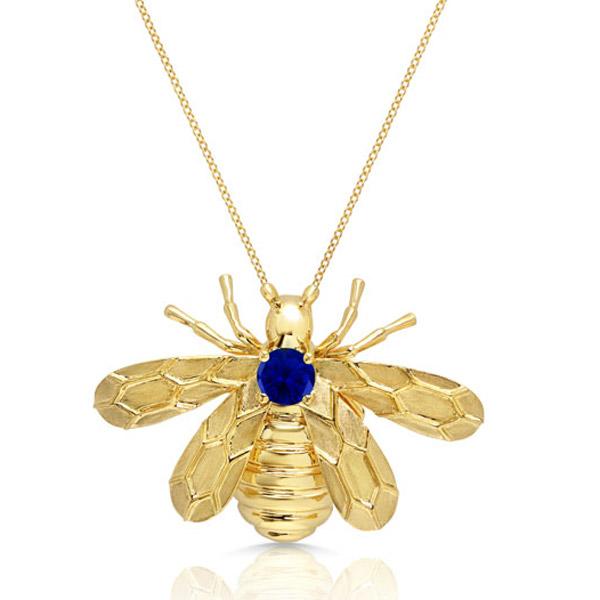Graziela sapphire bee necklace