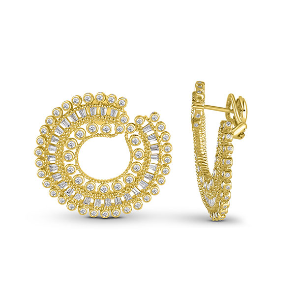 Harakh Sunlight diamond hoops