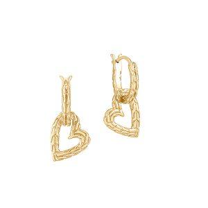 John Hardy Adwoa gold heart charms