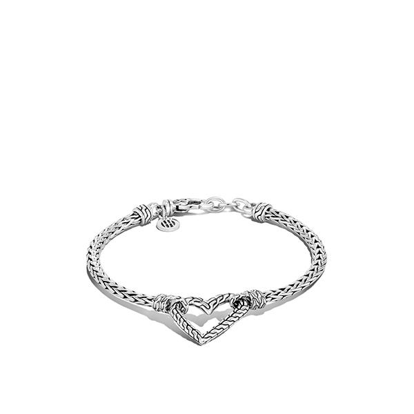 John Hardy Adwoa silver heart bracelet