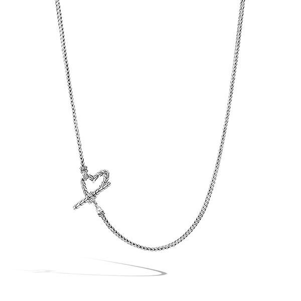 John Hardy Adwoa silver heart necklace