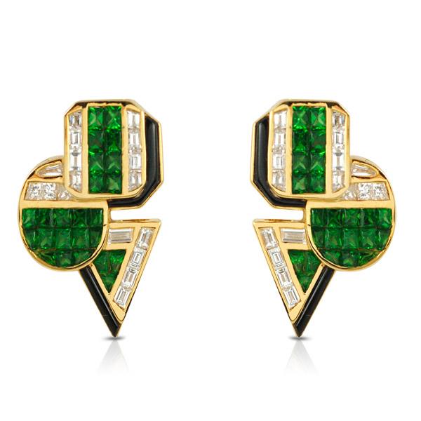 Kavant and Sharart garnet earrings