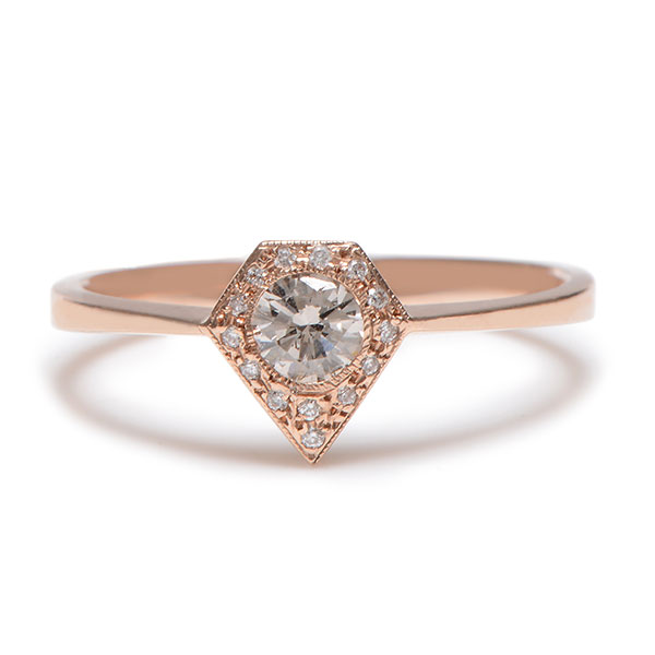Lori McLean Silhouette diamond ring
