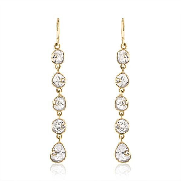 Loriann Reflections five tier earrings