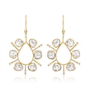 Loriann Reflections slice earrings