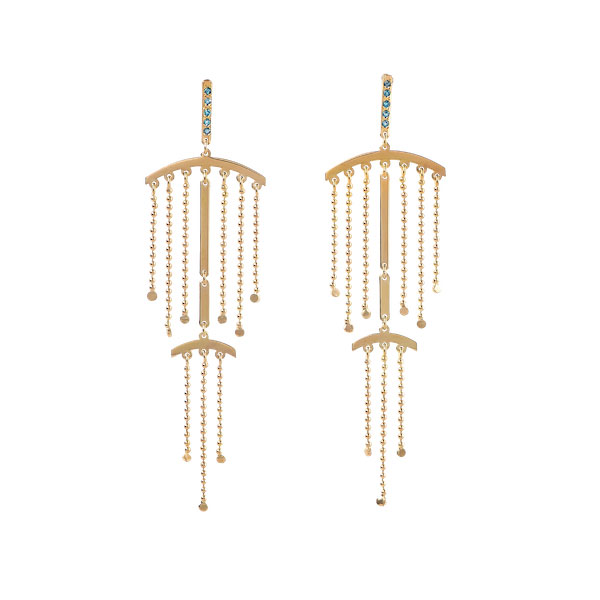 Maria Kotsoni fringe earrings
