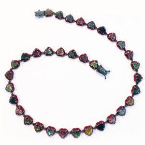 Nakard tourmaline heart necklace