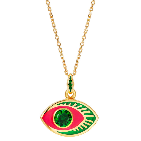 NeverNot green topaz eye pendant