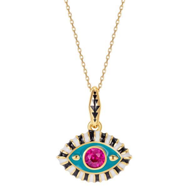 NeverNot pink topaz eye pendant