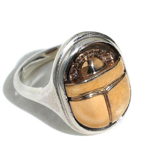Pamela Love scarab signet ring