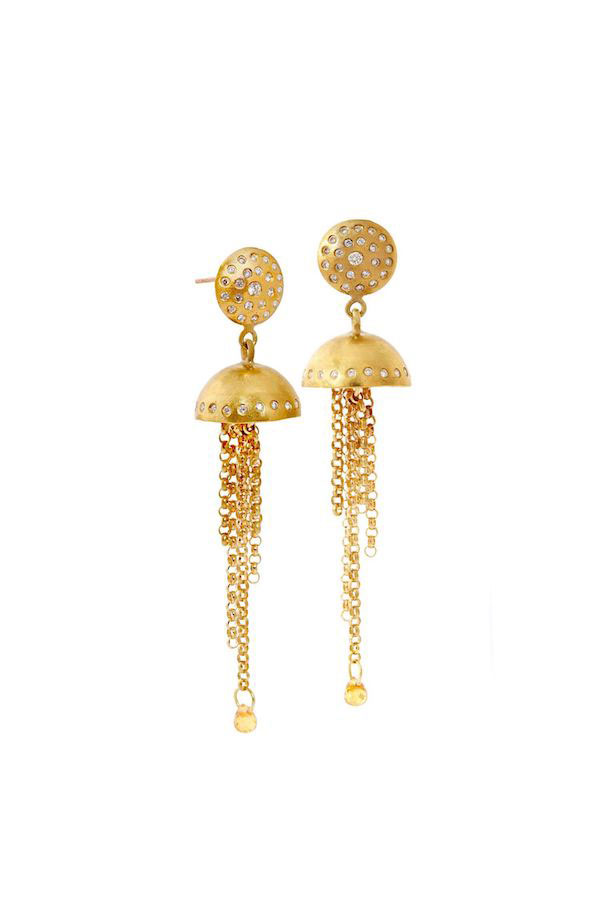 Paris and Lily fringe earrings