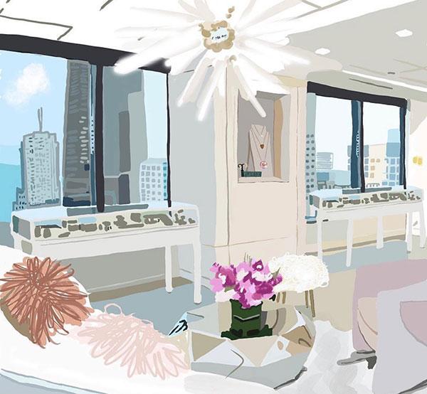 Sketch NYC Dana Rebecca showroom