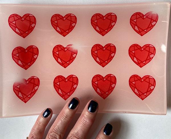 Sketch NYC hearts tray