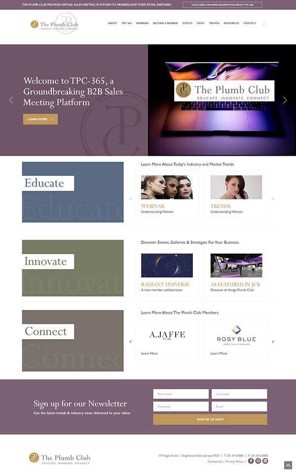 TPC website homepage