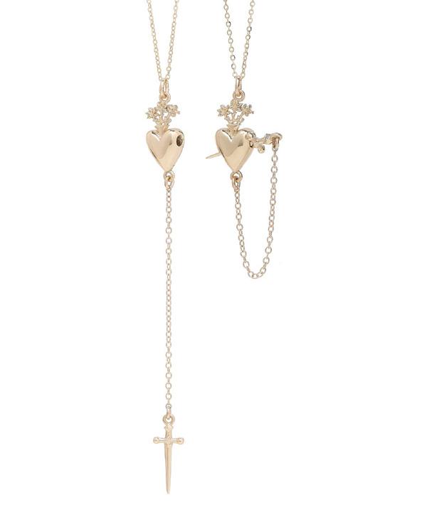 Talon Sacred Heart Drop necklace