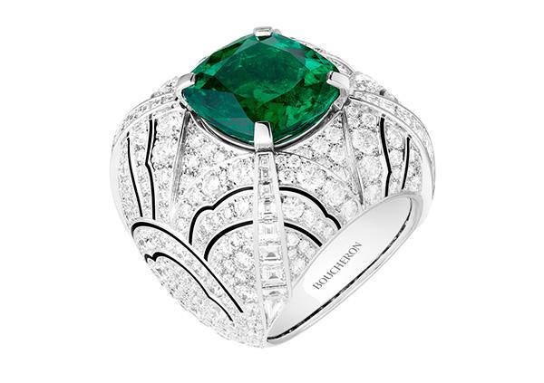 Bouton Emeraude ring