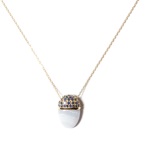 Campbell Charlotte lace agate pendant