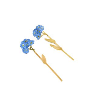 Christopher Thompson Royds forgetmenot earrings