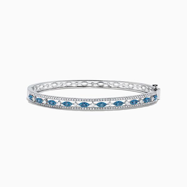 Effy Jewelry white and blue diamond bracelet