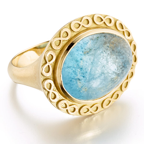 Elizabeth Moore Infinity Aquamarine Ring