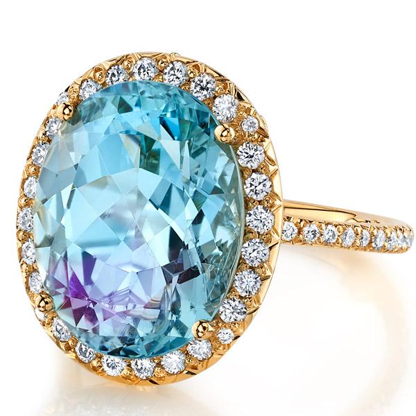 Erica Courtney aquamarine Enami ring