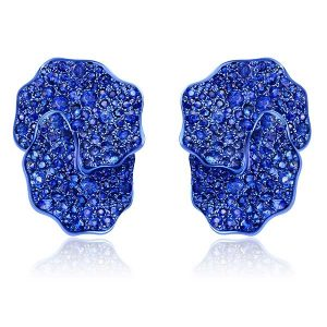 Graziela blue rhodium gold and sapphire earrings
