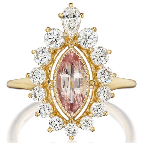 Greenwich Jewelers padparadscha ring