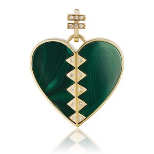 Harwell Godfrey malachite heart pendant