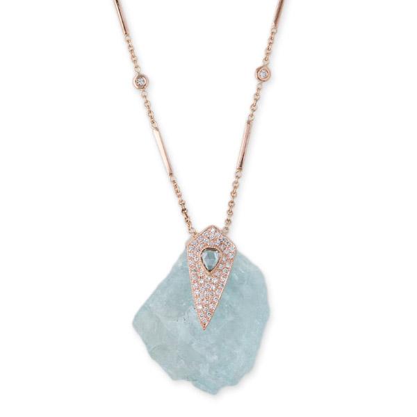 Jacquie Aiche freeform aquamarine necklace