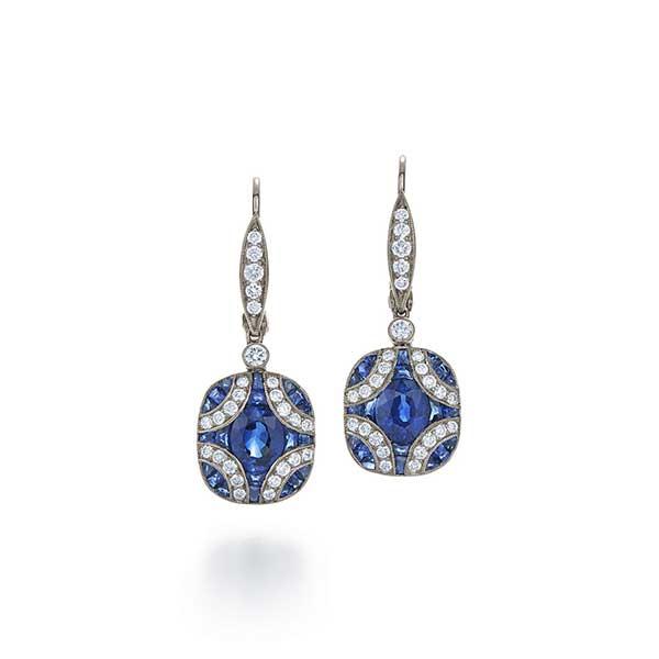 Kwiat sapphire and diamond earrings