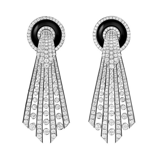Lavallière Diamants pendant earrings