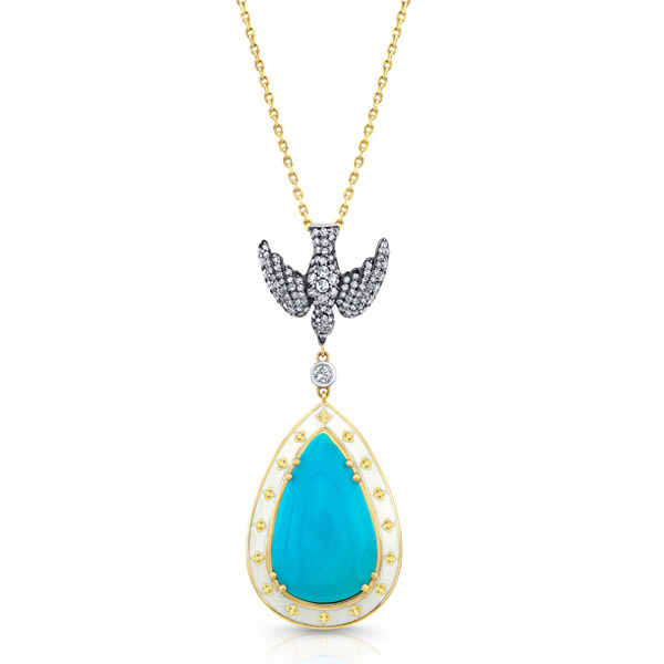 Lord Jewelry turquoise pendant