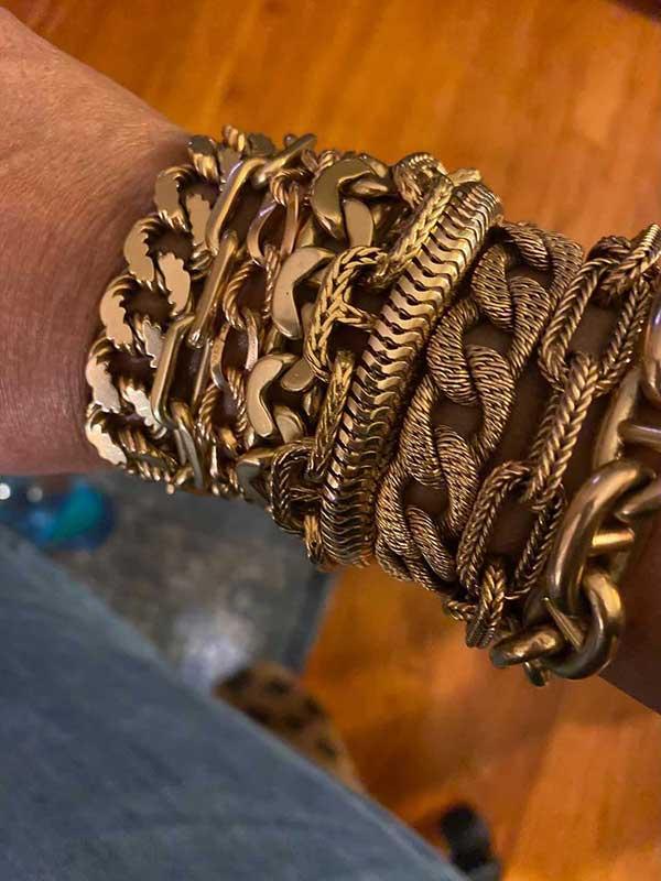 Miss Mickster ocho gold bracelet stack